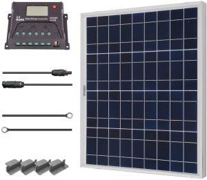 Renogy 50 Watts 12 Volts Polycrystalline Solar panel Starter Kit